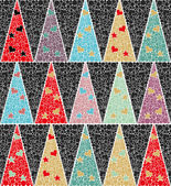 Christmas pattern with new year trees — Vecteur
