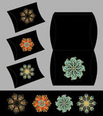 Flower package set — Stock Vector
