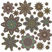 Set of Morrocan stars — Stock Vector
