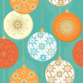 Pattern with christmas decorative balls — Stock Vector