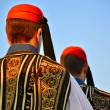 Постер, плакат: Greek president guards in traditional uniforms