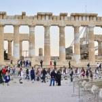Visit Acropolis Akropolis Athens Greece — Stock Photo #57522029