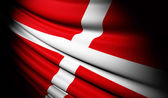 Sovereign Military Order of Malta flag waving on the wind — Stock Photo