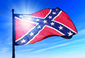 Confederate flag waving in the evening — Stock Photo