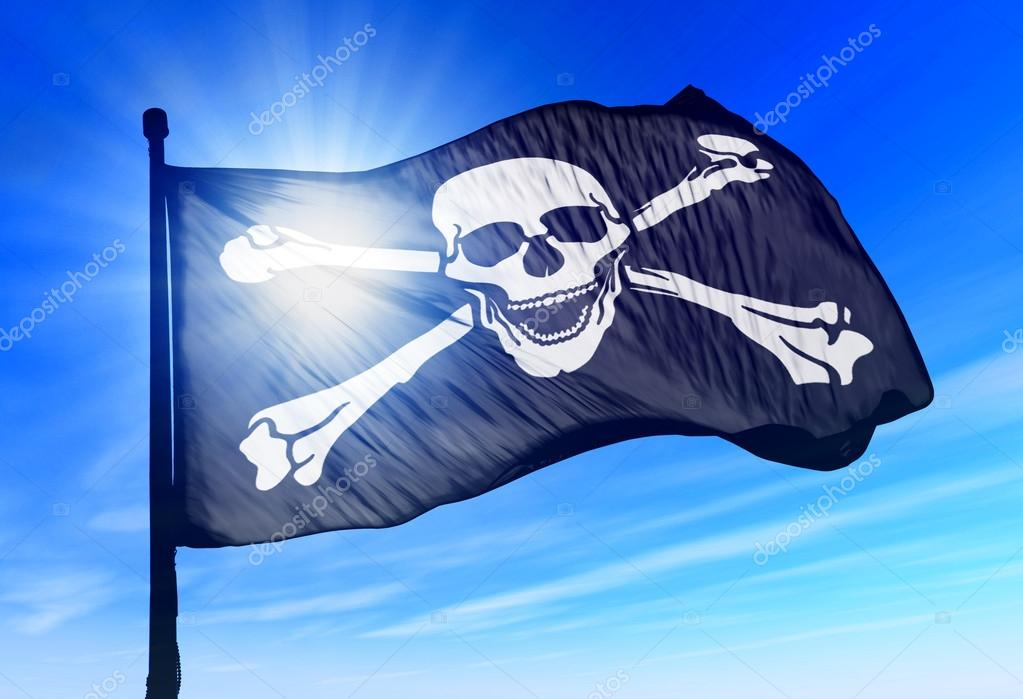 Pirate Flag Waving Pirate Skull And Crossbones Flag Waving on The Wind Photo by Flogeljiri
