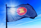 ASEAN flag waving on the wind — Stock Photo