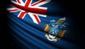 Tristan da Cunha flag waving on the wind — Stock Photo