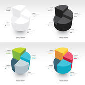 Business Infographics circle graph set — Vettoriale Stock