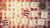 Cuba flag matching card vintage styles — Stock Photo