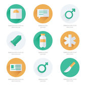 Medical Flat Icons Vector Design — Stock Vector
