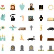 Funeral icons — Stock Vector #59479599