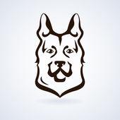 Dog icon vector — Stock Vector