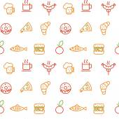 Foodstuff pattern — Stock Vector