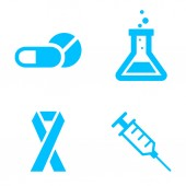 Health icons — Stock Vector