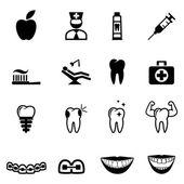 Iconos dentales — Vector de stock