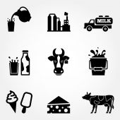 Dairy products - milk — Stock Vector