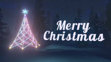 Animated Merry Christmas text. Loopable — Stock Video