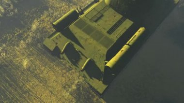 Russian Tank T 34 Top view — Stock Video