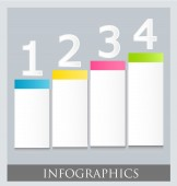 Modern infographic colorful design template — Stock Vector