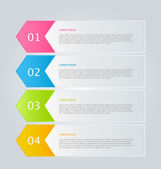 Infographics template for business — Stock vektor
