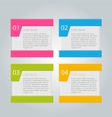Infographics template for business — Vector de stock