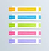 モダンなインフォ グラフィック カラフルなデザイン テンプレート — ストックベクタ