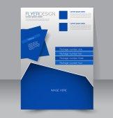 Flyer template or business brochure — Vector de stock