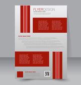 Flyer template or business brochure — Stock Vector