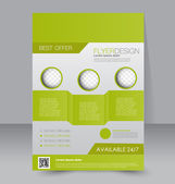 Flyer template. Business brochure — Stock Vector