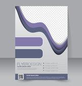Modèle de brochure ou dépliant. — Vecteur