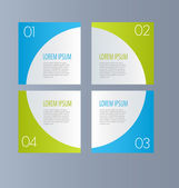 Business infographics template for presentation, education, web design, banners, brochures, flyers. Blue and green tabs. — 图库矢量图片