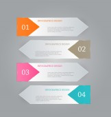 Infographic template with step options for business, startup concept, web design, data visualization, banner, brochure or flyer layouts, presentation, education — Stock Vector