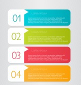 Infographics template for business, education, web design, banners, brochures, flyers. — Stock vektor