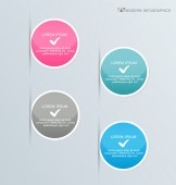Infographics template for business, education, web design, banners, brochures, flyers. — Stock Vector
