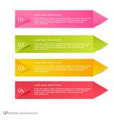 Infographics template for business, education, web design, banners, brochures, flyers. — Vector de stock