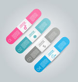 Infographics template for business, education, web design, banners, brochures, flyers. — ストックベクタ