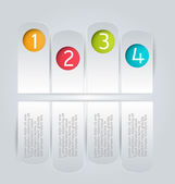 Infographics template for business, education, web design, banners, brochures, flyers. — Stockvektor