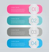 Business infographics template for presentation, education, web design, banners, brochures, flyers. — Stock Vector