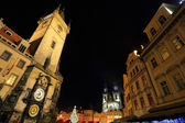 Christmas Mood on the night Old Town Square, Prague, Czech Republic — Zdjęcie stockowe