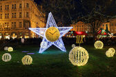 Christmas Mood on the night Old Town Square, Prague, Czech Republic — Photo