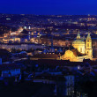 Night winter Prague City with St. Nicholas' Cathedral, Czech Republic — Stock Photo #60396371