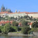 View on the autumn Prague City above River Vltava, Czech Republic — Stock Photo #63795493