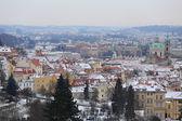 Prima neve nella città di Praga, Repubblica Ceca — Foto Stock