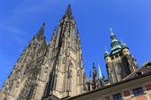 Gothic St. Vitus' Cathedral on Prague Castle, Czech Republic — Stock Photo