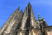 Gothic St. Vitus' Cathedral on Prague Castle, Czech Republic — Stock Photo
