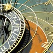 Detail of the historical medieval astronomical Clock in Prague on Old Town Hall , Czech Republic — Stock Photo #65586041