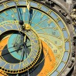 Detail of the historical medieval astronomical Clock in Prague on Old Town Hall , Czech Republic — Foto de Stock   #67929713