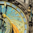 Detail of the historical medieval astronomical Clock in Prague on Old Town Hall , Czech Republic — Foto de Stock   #67929717