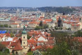 View on the spring Prague City, Czech Republic — Stock Photo