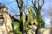 Historic Sculpture on the old Prague Cemetery, Czech Republic — Стоковое фото